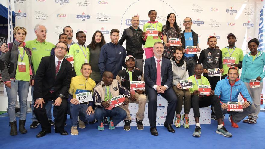 Presentación de los atletas de élite de la Gran Canaria Maratón en Expodeporte. (Alejandro Ramos).