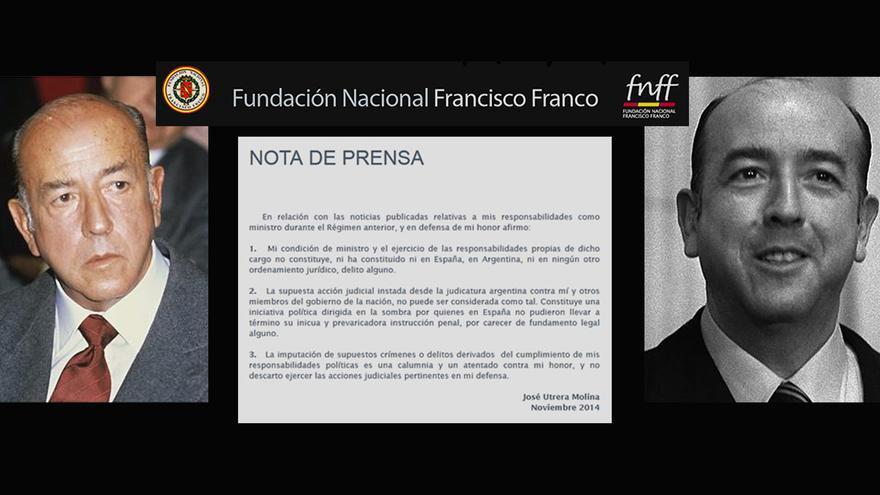 El exministro Utrera Molina amenazó con denunciar a víctimas del franquismo.