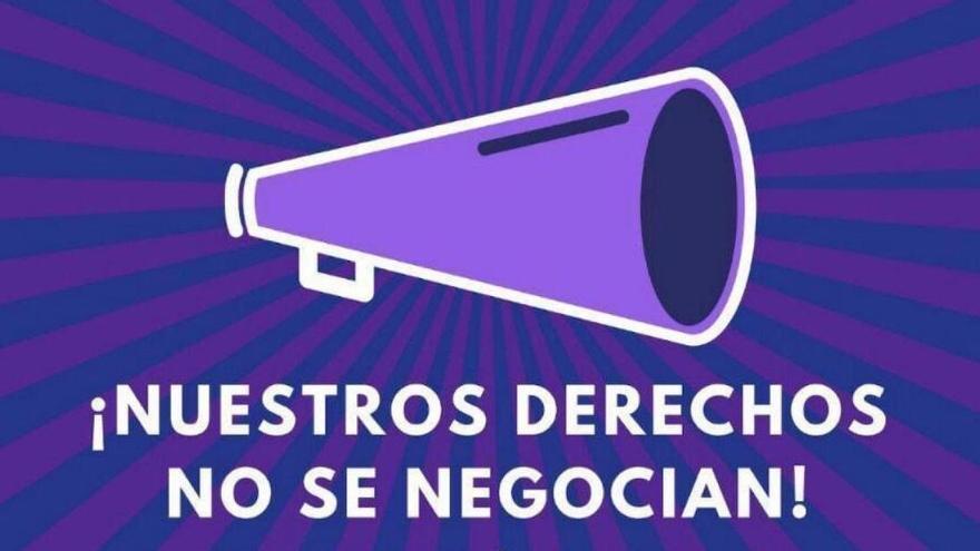 Lema de la manifestación feminista contra la extrema derecha.