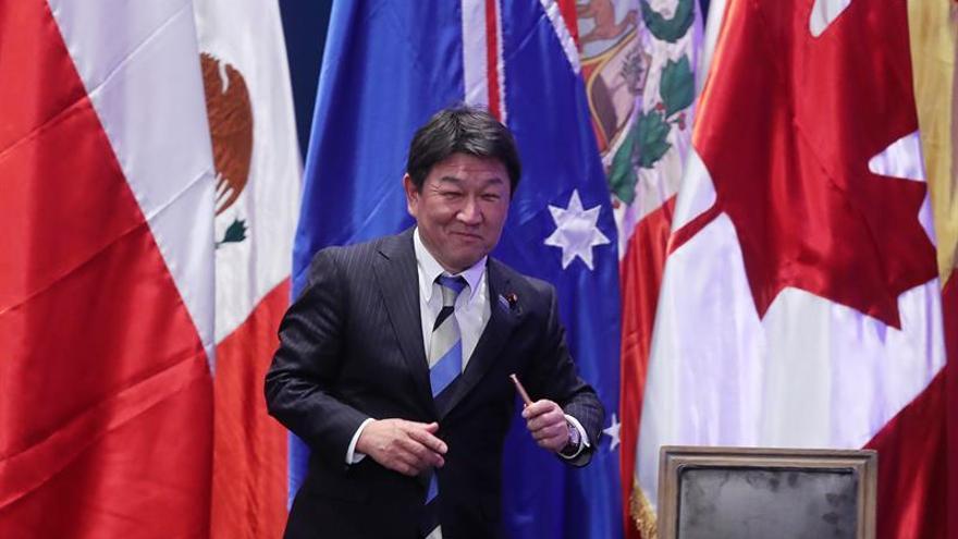 Japón confía en que el TPP11 pueda entrar en vigor a comienzos de 2019