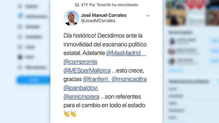 Captura del Twitter de José Miguel Corrales