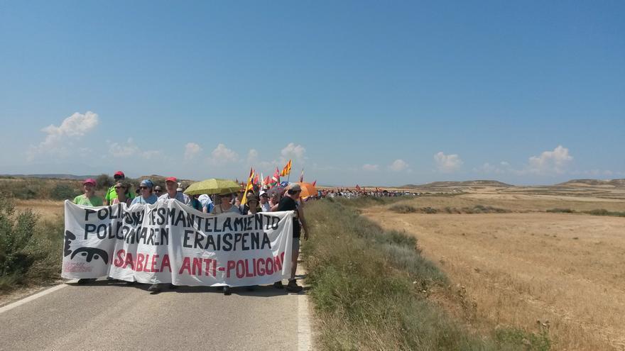 Una movilización desde Aragón contra el polígono de tiro de las Bardenas.