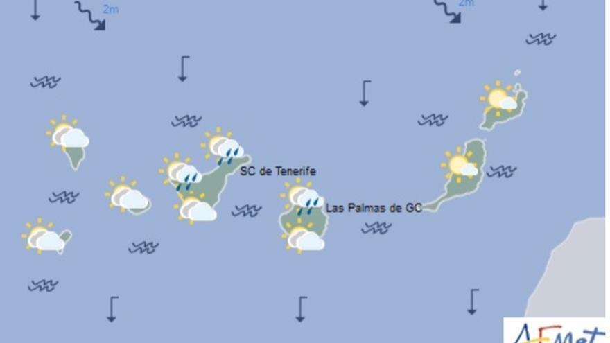Mapa del tiempo de la Aemet para este sábado, 27 de mayo de 2017.