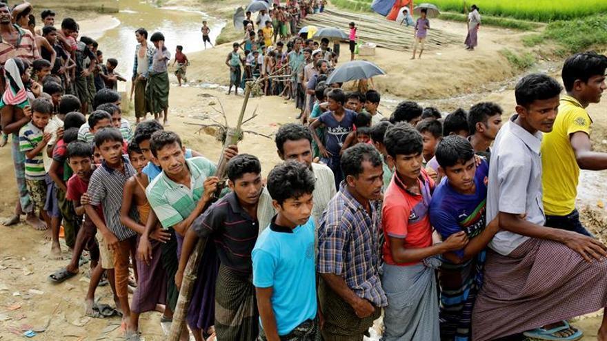 La ONU cifra en 509.000 los rohinyás llegados a Bangladesh