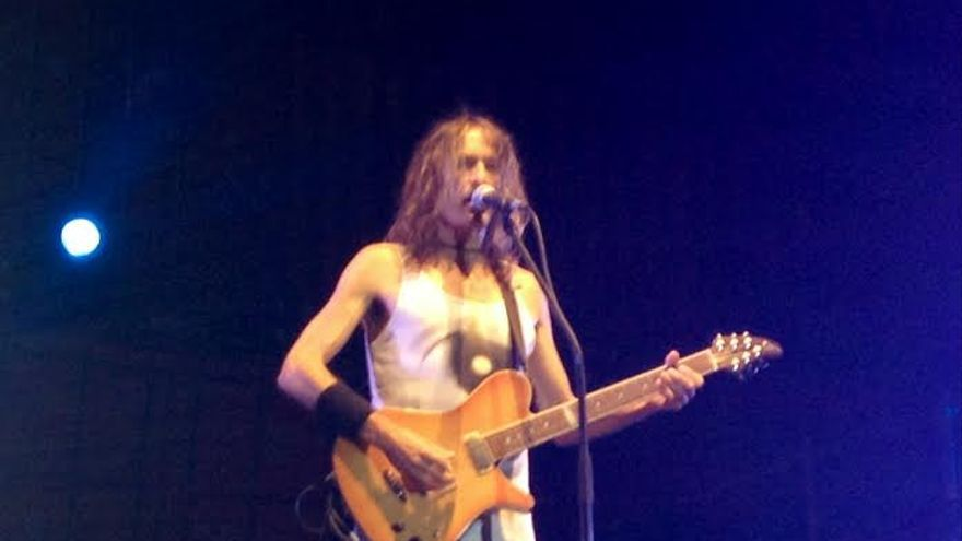 Robe Iniesta, cantante de Extremoduro. Albacete, 24/8/14. / Foto: Javier Robla