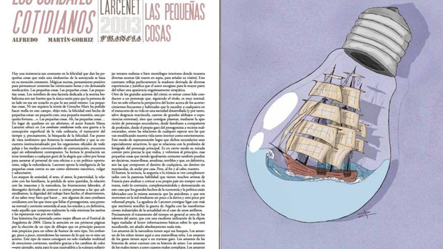 Los combates cotidianos, de Manu Larcenet en '100 cómics'