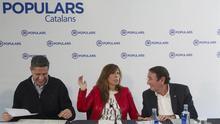 Los dirigentes del PP catalán Xavier García Albiol, Alicia Sánchez Camacho y Ramón Riera