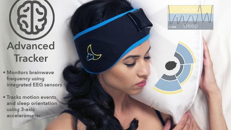 Sleep Shepherd Blue, un dispositivo que dice leer las ondas cerebrales para tratar el insomnio y mejorar la calidad del sueño.