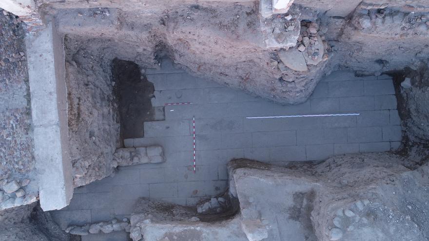 Imagen en la zona de excavación