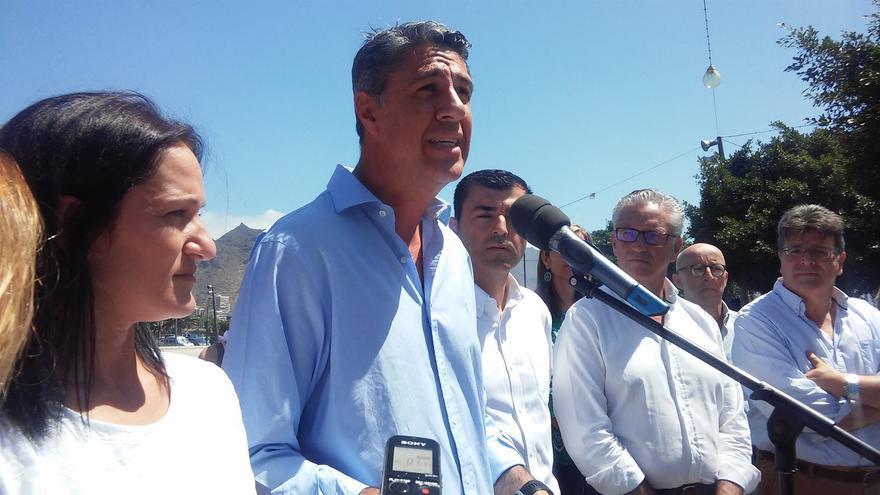 Imagen del acto político del PP celebrado este domingo en la capital tinerfeña