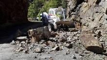 La carretera GC-104 es la única cerrada de Gran Canaria por el temporal