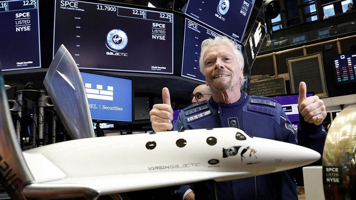 El multimillonario Richard Branson