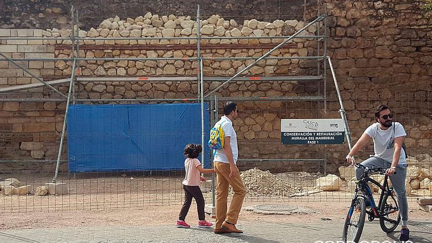 Obras de reconstrucción y consolidación de la muralla del Marrubial | MADERO CUBERO