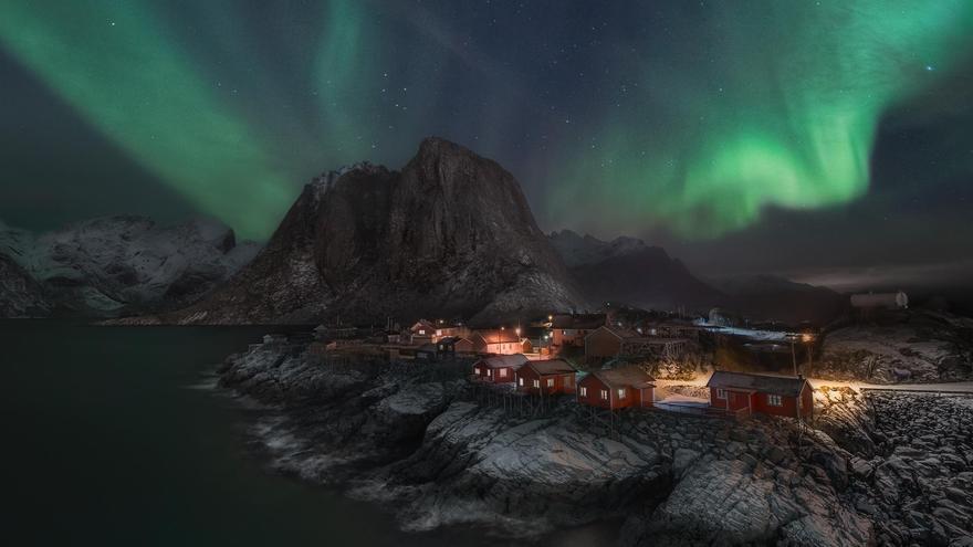 Aurora Boreal en las Islas Lofoten.