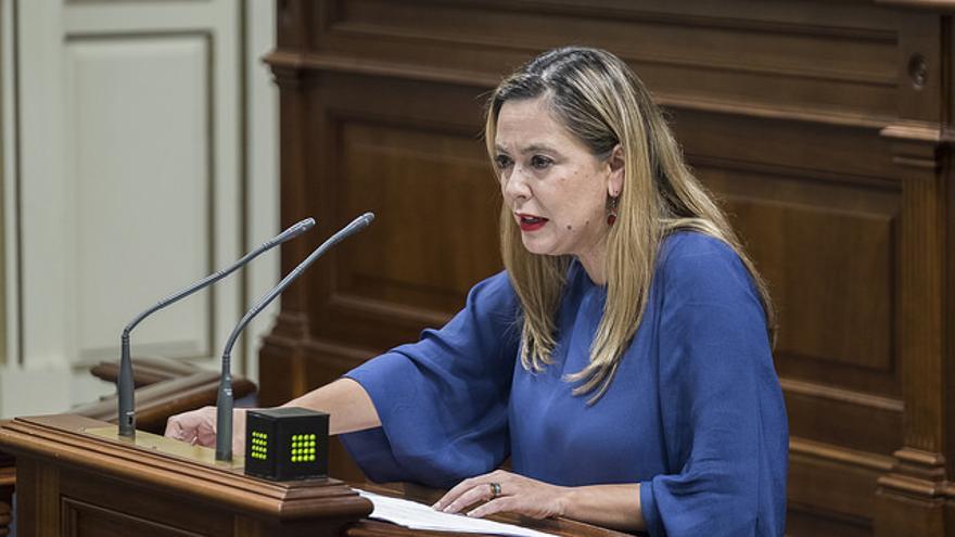 La portavoz del grupo parlamentario Socialista, Dolores Corujo