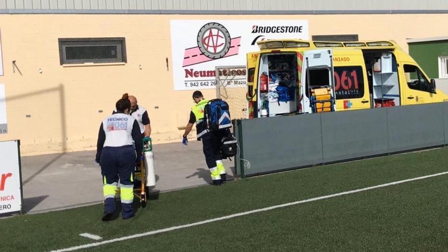 Trasladado a Urgencias un hombre de 48 años por traumatismo costal severo durante un partido de fútbol en Colindres