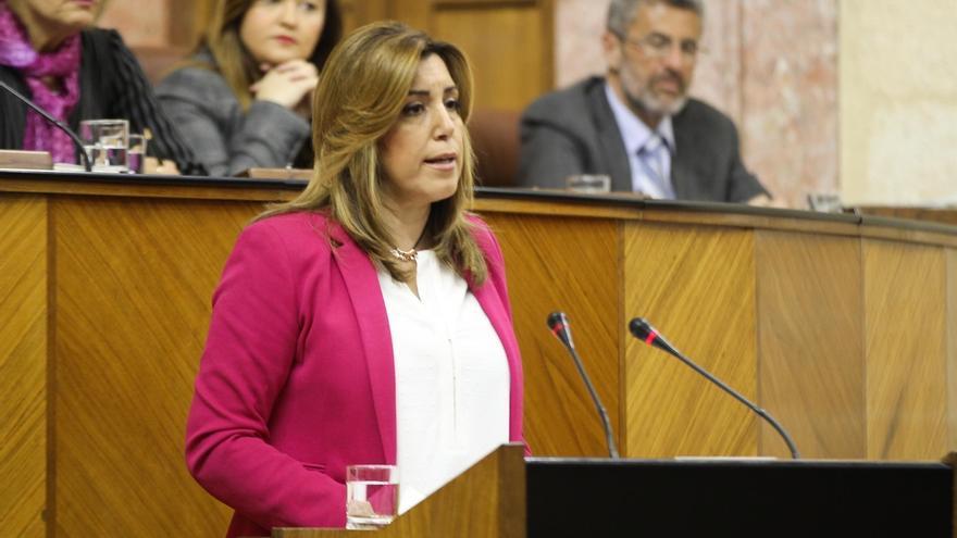 """Susana Díaz rechaza """"complacencias con los delirios nacionalistas"""", que sólo producen """"exclusión y confrontación"""""""
