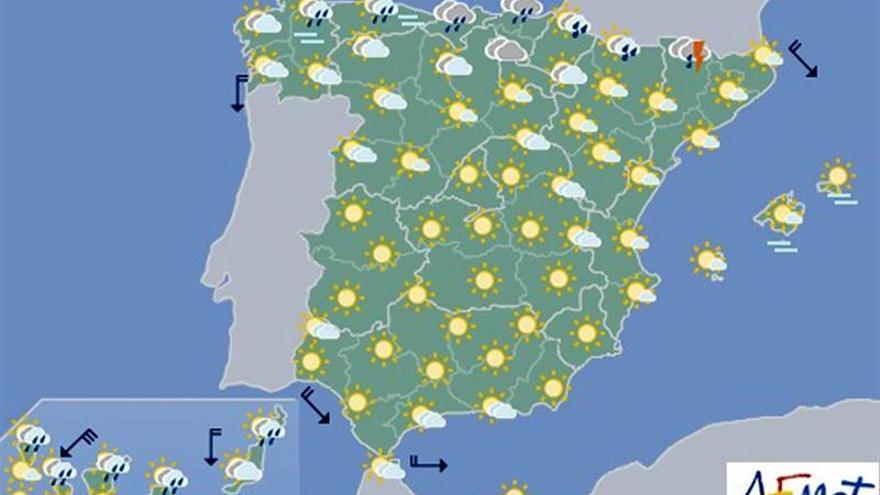 Más chubascos y tormentas en el norte, fuertes en Pirineos y Navarra