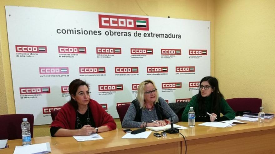 Rueda de prensa de las líderes sindicales para tratar la brecha salarial / @ccoo_ext