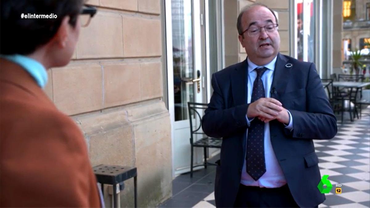 Miquel Iceta, entrevistado por Thais Villas en 'El Intermedio'