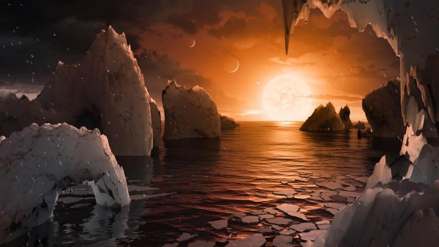 Recreación de la NASA de uno de los planetas hallados