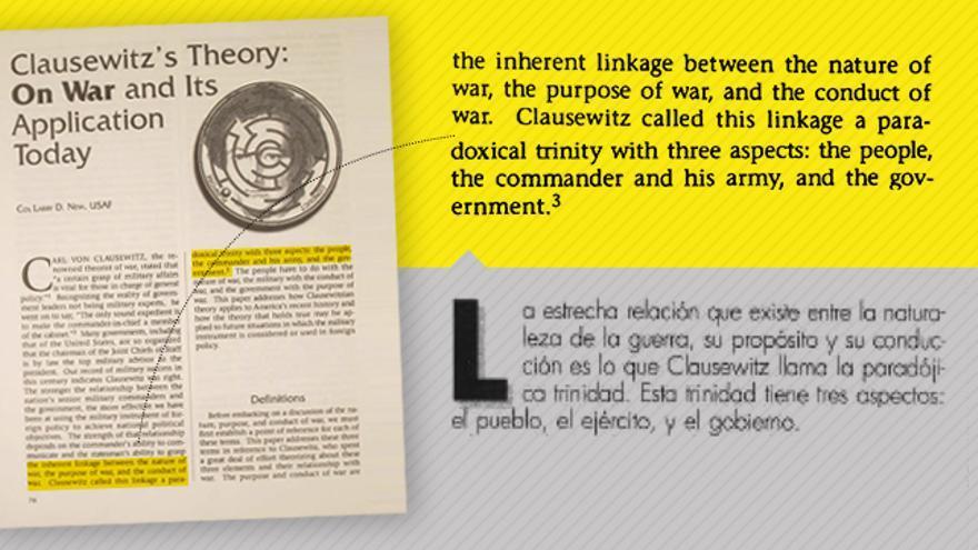 El número uno de Vox por Alicante copió artículos estadounidenses y los publicó en la revista del Ejército ...