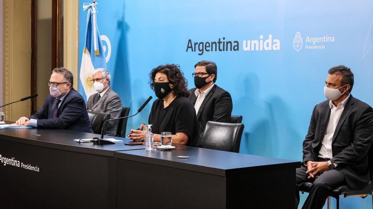 La conferencia de prensa de los ministros Vizzotti y Kulfas