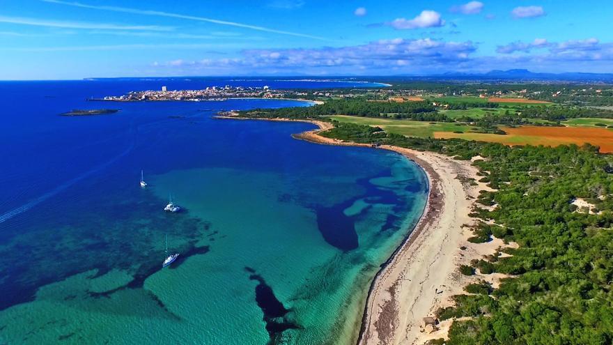 Playa de Es Carbó y Colònia de Sant Jordi (Mallorca, I. Baleares)