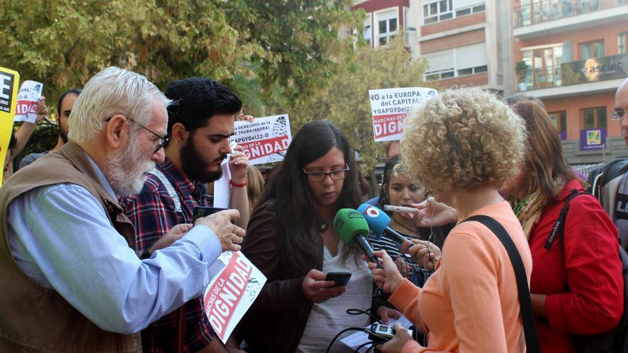 Las Marchas de la Dignidad han convocado a la sociedad murciana para la jornada de protesta del 22-O / PSS