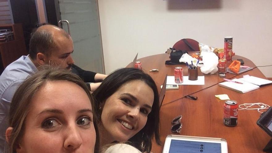 La candidata de Ciudadanos al Gobierno de Canarias, Melisa Rodríguez, tras el mitin de la Radio Televisión Canaria (@mrhciudadanos)