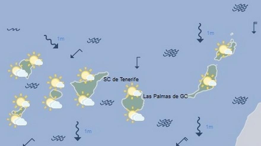 El tiempo en Canarias para este lunes, 24 de abril