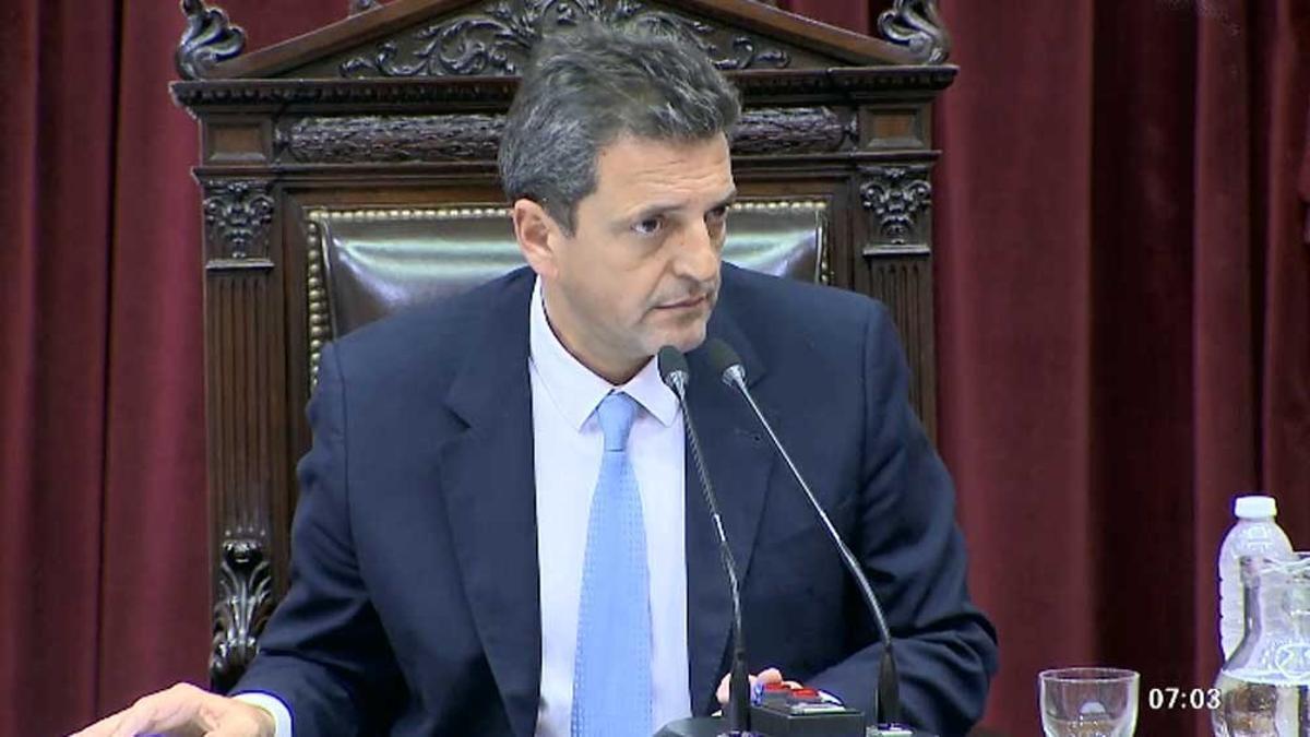 El presidente de la Cámara de Diputados Sergio Massa