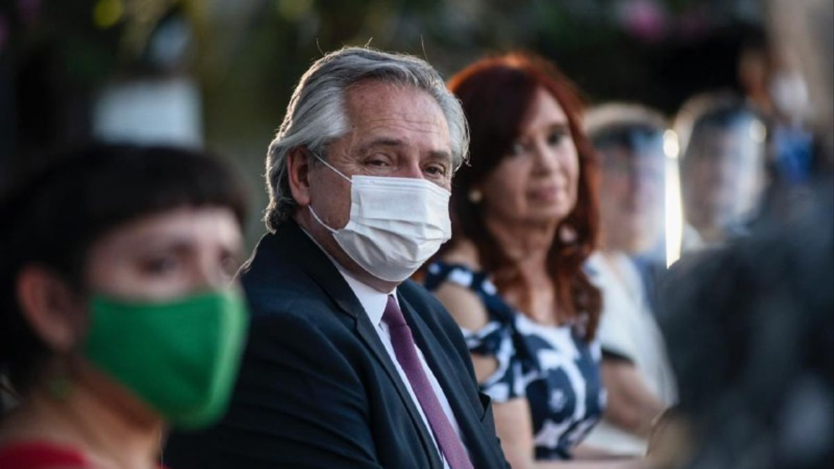 Alberto Fernández y Cristina Fernández de Kirchner en la exEsma