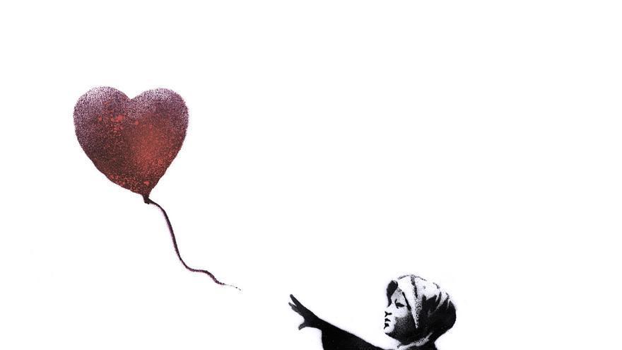 La última obra del artista callejero Banksy busca promover la paz en Siria./ Imagen cedida por Amnistía Internacional España