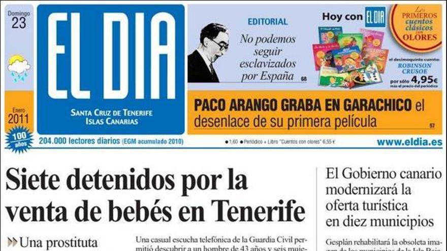De las portadas del día (23/01/2011) #3