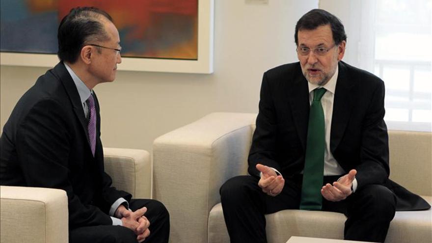 Rajoy reafirma al presidente del Banco Mundial su compromiso con la entidad