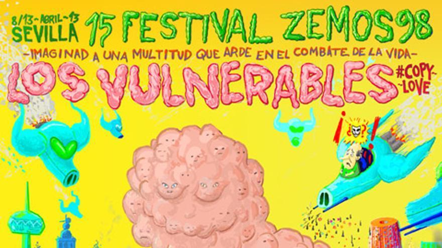 Los Vulnerables: imagen desarrollada por Efrén Álvarez y que representa a la Godzila Ciudadana.