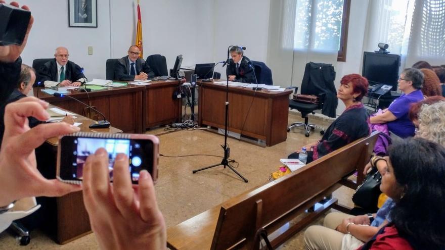 La directora de Igualdad, Nina Parrón, en un momento del juicio celebrado el 23 de octubre.