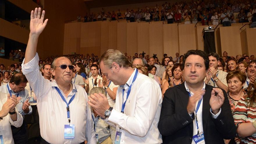 Carlos Fabra, Alberto Fabra y Javier Moliner, en un congreso del PP