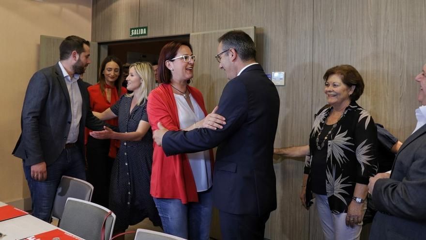 Isabel Franco (Cs) y Diego Conesa (PSOE) han estado presentes en la mesa negociadora