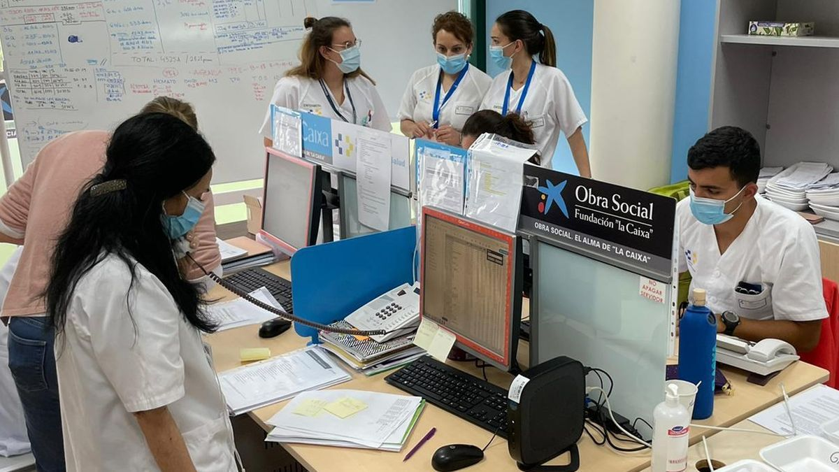 Equipo de vacunación de La Palma.