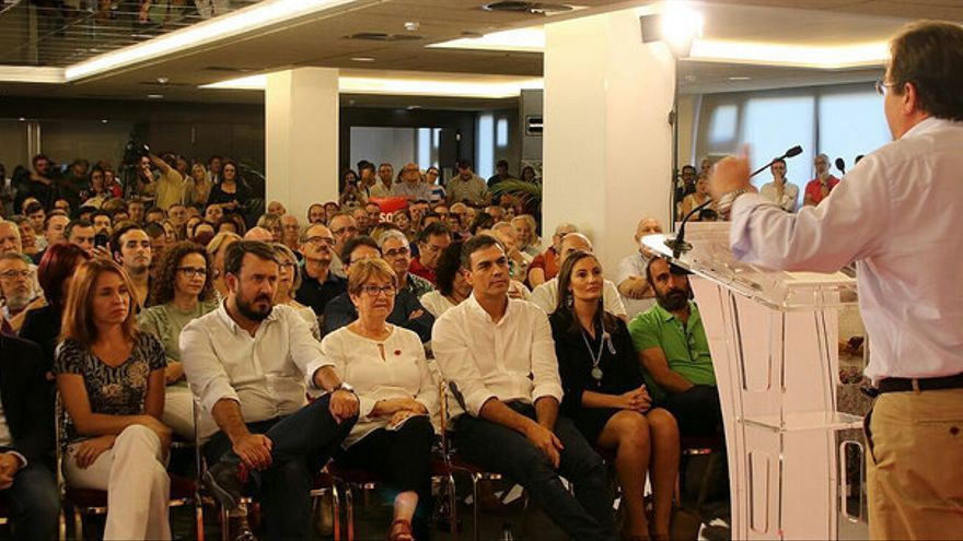 Pedro Sánchez Fernández Vara acto Badajoz