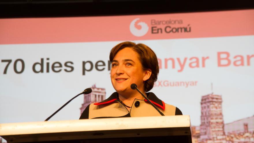 Ada Colau, proclamación en Cotxeres de Sants. Autor: Tono Carbajo