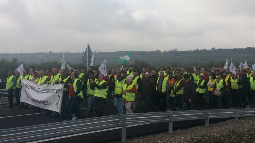 Circulación normal en todas las carreteras de la provincia afectadas por las protestas de los olivareros