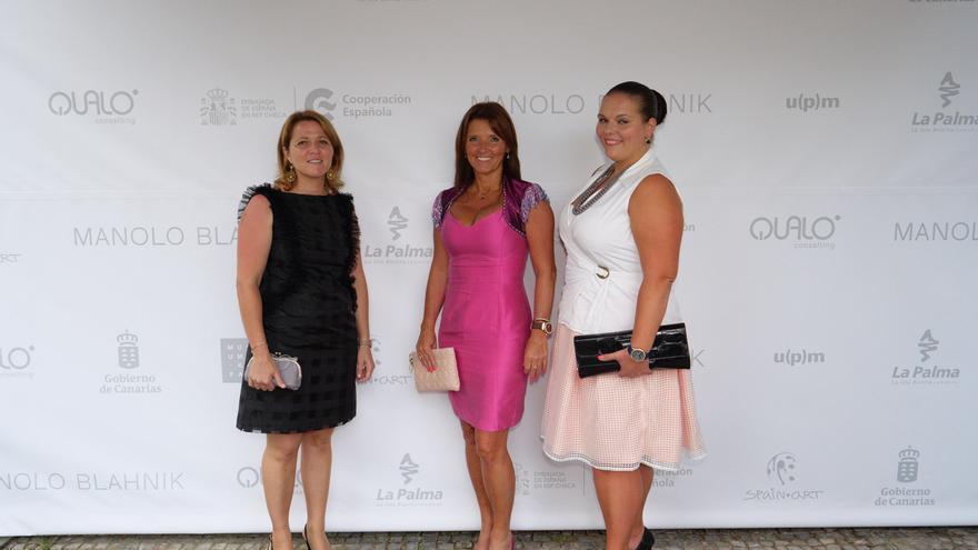Alicia Vanoostende estuvo presente en la inauguración de la exposición.