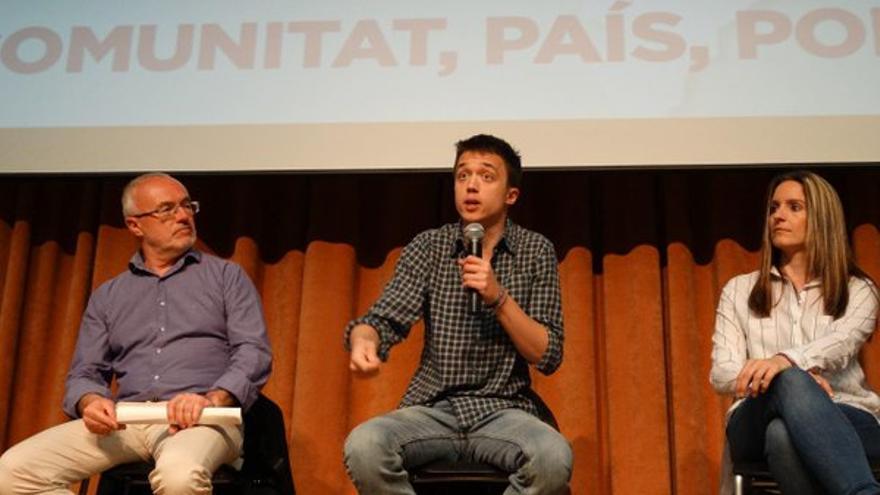 Antonio Montiel, Íñigo Errejón y Àngela Ballester