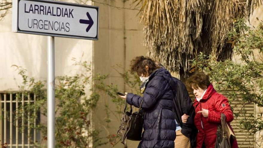 Entrada a las Urgencias del hospital de Txagorritxu