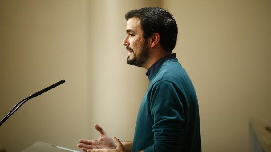 Garzón dice estar satisfecho con la situación de IU en el logo de Unidos Podemos