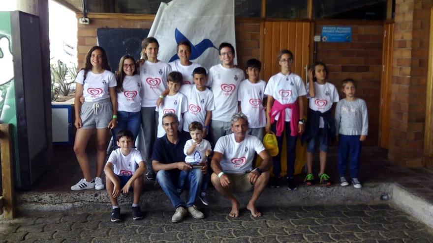 Equipo de vela de La Palma. Foto: Real Club Náutico de Santa Cruz de La Palma.