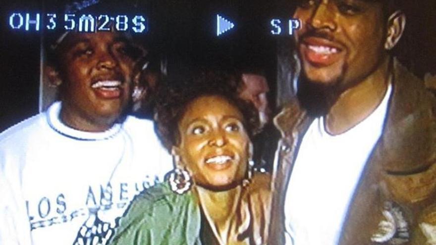 Dee Barnes, con Dr Dre